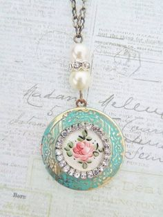 4/13/16 Allana, I hope you like this beautiful Aqua,Pink and Pearl pendant. Sorry I'm a day late. <3 Lulu