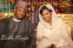 Northern Nigeria. Bride and Groom -- #Nigeria African Wedding #Africa