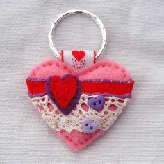 Valentine Gift - Valentine Heart Keyring £7.00 www.elliestreasures.co.uk