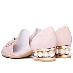 Jeffrey Campbell 'Civil MP', pink, pearl cut out suede loafer
