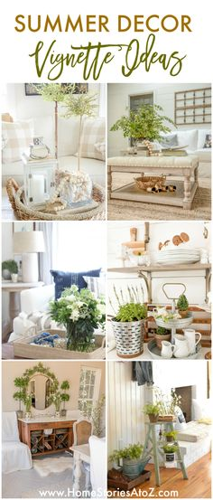 Summer Decor Ideas: Summer Vignettes and Tiered Tray Decor Ideas Coffee Table Vignettes, Coffee Table Styling, Buffett Table, Home Decor Inspiration, Decor Ideas, Diy Ideas, Living Room Decor, Bedroom Decor, Rooms For Rent