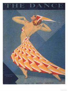 The Dance, Art Deco Magazine, USA, 1920 Premium Poster