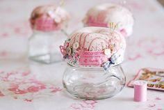 jar pincushions
