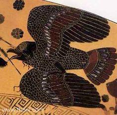 Aetos Kaukasios . Giant eagle created by Zeus . Athens , 6th.Century BC E .