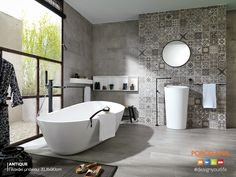 #Vintage αίσθηση & σύγχρονο #design, τα στοιχεία που διαμορφώνουν μοναδικά το μπάνιο #Antique! #Designyourlife @ Porcelana!