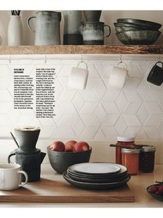 Love this tile pattern. Martha Stewart Living September 2015: A Handcrafted Home