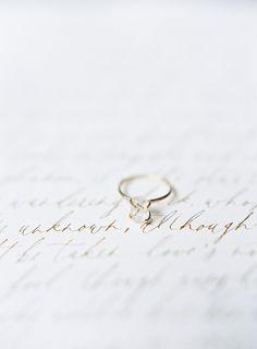 Simple herkimer diamond engagement ring.