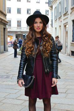 Milan Day 2: Aubergine and Leather   Negin Mirsalehi