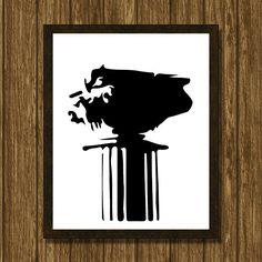 Roman column minimalist print by WhatAPrintableWorld