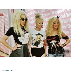Courtney Act American Apparel t-shirt launch