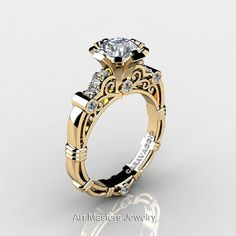 Art Masters Caravaggio 14K Yellow Gold 1.0 Ct White by artmasters, $1129.00