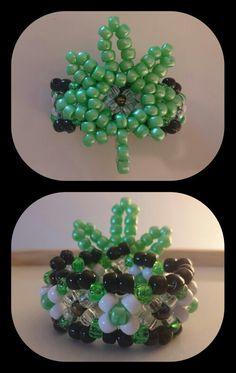 Leaf 3D kandi cuff i kade for a special friend