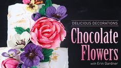 Decorate your cakes and treats with chocolate embellishments that taste as amazing as they look. Create beautiful chocolate flowers and trendy cake textures with simple tools.
