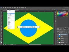 Desenhando a bandeira do Brasil no Photoshop. - YouTube