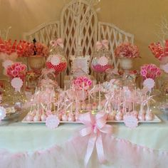 Pinks for girls communion candy buffet  Info: perfectlyposhct@hotmail.com