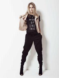 "fiftyshadesofcara: ""Cara Delevingne for Penshoppe. Look Fashion, Fashion Models, Fashion Outfits, Fashion Advice, Jogging, Cara Delevingne Style, British Fashion Awards, English Fashion, Poses"