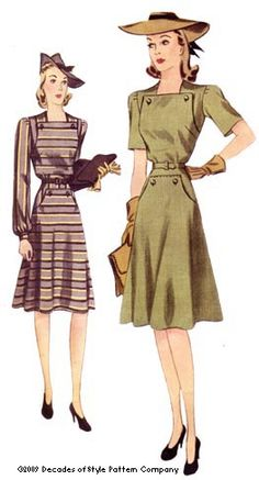 Vintage Sewing and Dress Patterns from Decades of Style