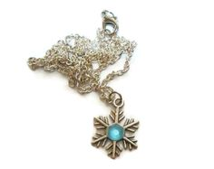 Snowflake necklace, silver necklace, snowflake pendant, Once upon a time, Anna Necklace, ouat jewelry, charm necklace - pinned by pin4etsy.com