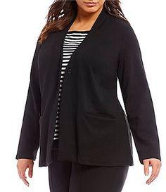 3dbe15760cc0 Eileen Fisher Plus Stand Collar Blazer Plus Size Blazer, Lightweight Jacket,  Eileen Fisher,