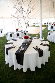 To go with more table decor, and incorporate the piano theme, have white table cloth and black napkins. Red Wedding, Wedding Table, Wedding Reception, Wedding Ideas, Wedding Favors, Wedding Events, Free Photography, Family Affair, Deco Table