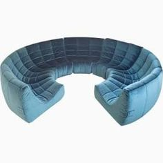 France, 1972 Very rare extra large 'Gilda' circle sofa by Michel Ducaroy made in The sofa is manufactured by 'Roset' the company name of Ligne Roset prior to Hollywood Regency, Togo Sofa, Circle Sofa, Fabric Sectional, Sectional Sofas, Modern Sectional, Couches, Sofa Material, Round Sofa