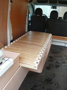 Carnet de voyages en Gourmandise: Aménager un fourgon Citroën Jumpy en mini-van
