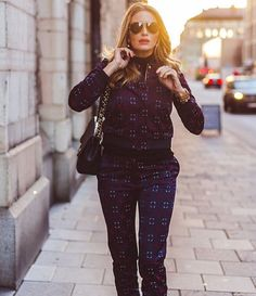 What a gorgeous shot of @misscarolinagynning in @baumundpferdgarten jacquard set! Morning glow  #somewhereagency #baumundpferdgarten #model #sweden #artist #actress #aw15 #fashion #patterns