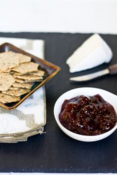 Mission Fig and Balsamic Jam Recipe serve with brie- I am trying this tomorrow!!!!
