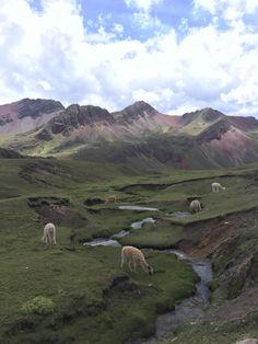 Near the summit of Rainbow Mountain in Peru.