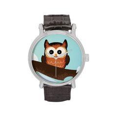 Cute Christmas Owls Wrist Watches