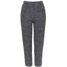 Topshop Peg Trousers ($75) ❤ liked on Polyvore featuring pants, capris, high rise pants, zip pants, high-waisted trousers, zipper pants and topshop pants