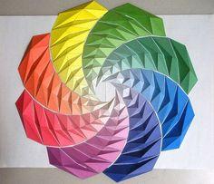Moving Origami Mosaics - Kota Hiratsuka Crafts Colorful Geometric Origami Art (GALLERY)