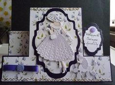 Base of stepper is hunkydory adorable scorable using the tattered lace out for a stroll Emma and Perdy die set
