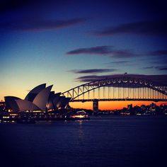 Incredible sunset...last winter vacation in Sydney... #sydney #harbourbridge #sunset #australia #opera #aus Winter, Opera House, Sydney, The Incredibles, Australia, Vacation, Sunset, Photo And Video, Videos