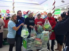 Ruth Langsford from This Morning helped packed bags in a UK-wide bag pack for Text Santa