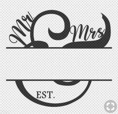 Wedding Gift Split monogram SVG file for Cricut Design Space or Silhouette Cameo – HTV / Vinyl Mr. Wedding Gift Split monogram SVG file for Cricut Design Space – HTV / Vinyl Cricut Monogram, Cricut Fonts, Svg Files For Cricut, Cricut Htv Shirts, Monogram Initials, Plotter Silhouette Cameo, Silhouette Cameo Projects, Silhouette Design, Silhouette Cameo Wedding