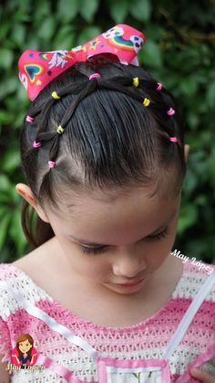 Beautiful Hairstyle For Girl, Cute Little Girl Hairstyles, Baby Girl Hairstyles, Princess Hairstyles, Easy Toddler Hairstyles, Hairstyles For Toddlers, Toddler Hair Dos, Children Hairstyles, Girl Hair Dos