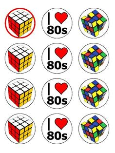 "Twelve 2"" Rubiks Cube Vintage 80s Edible Image Cupcake Toppers Decorations on Wafer Rice Paper Fun Photo Cakes http://www.amazon.com/dp/B00DXOVWKW/ref=cm_sw_r_pi_dp_-jnOvb1N8CBD3"