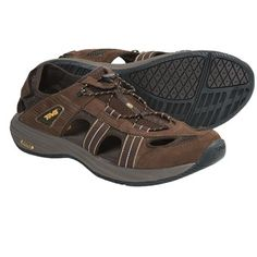Teva Churnium Leather Sport Sandals (For Men) in Turkish Coffee $29.95  or you could just  use your lightweight slip-ons for camp shoes???