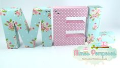 Letras 3D Shabby Chic