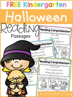 Inside you will find 5 FREE Halloween Kindergarten Reading comprehension Passages. These reading comprehension packets include the following activities:-Read 3 times for fluency-Short answer questions-Fill in the blank questions-Multiple choices-Match the story with the picturesThese reading passages are great for both beginning readers, struggling readers, and ESL students in Kindergarten and in 1st gradeThese reading comprehension and fluency passages will build students' confidence in…