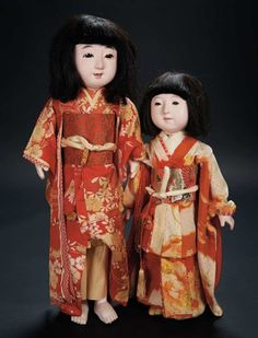 Two Japanese Paper Mache Dolls with Original Costumes $300+ Auctions Online | Proxibid