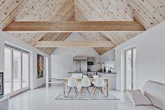 Modern Barn House, Modern House Design, Woodland House, Interior Architecture, Interior Design, A Frame House, Loft House, Scandinavian Home, Minimalist Home