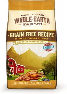 Whole Earth Farms Grain Free Recipe with Chicken and Turkey Dry Dog Food - 4-lb