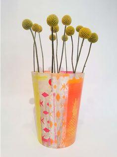 Colorful & unique flower vase by kira-cph.com