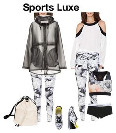 """""""Sports Luxe 1"""" by alexxa-b-charles ❤ liked on Polyvore featuring Varley, Hunter, Calvin Klein Underwear, Ted Baker and Diadora"""