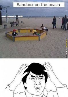 Sandbox on the beach
