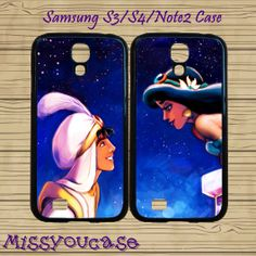 Samsung galaxy S4,Samsung galaxy S3,Samsung Galaxy Note2 Case,cute Samsung S3 Case,S4 case,Aladdin and Princess Jasmine,best friends case. by Missyoucase, $28.95