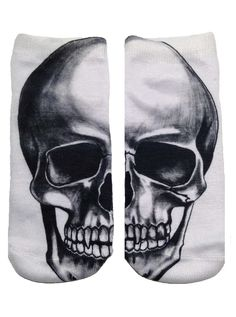 Spooky Skull Socks. Get into the spirit of Fall with these Spooky Skull Socks! Slip into a pair of our ankle socks to add a bit of cheeky fun to any outfit. $8.00