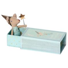 Accessoires - Mouse, Tooth fairy in box, boy - Maileg - Tooth Fairy Box, Tooth Box, Dolls Prams, Child And Child, Fairy Dust, Kids Boxing, Baby Boutique, How To Make Bed, Blue Design